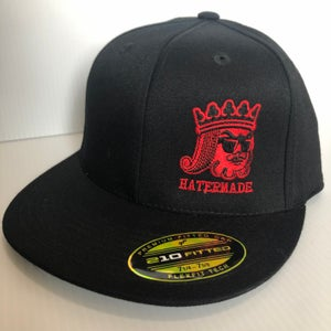 "Image of ""King Hatermade"" White or Red Logo"