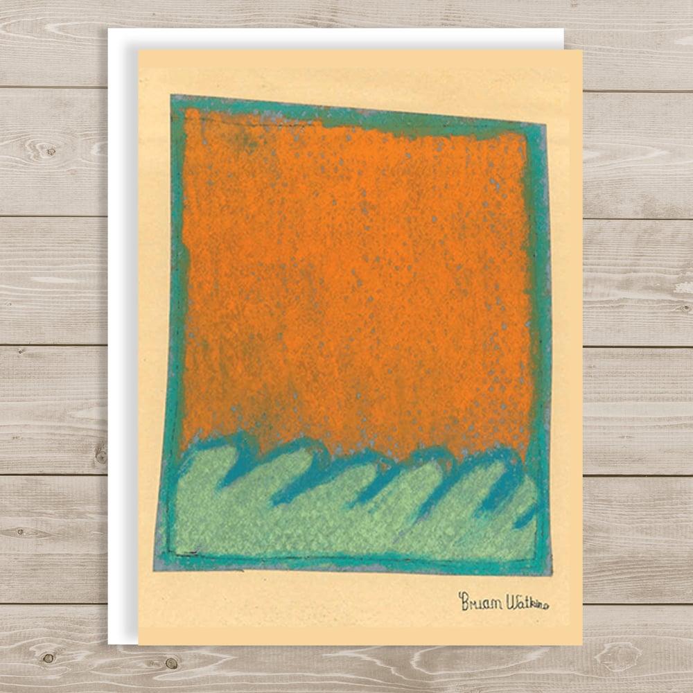 Image of Orange and Blue Waves