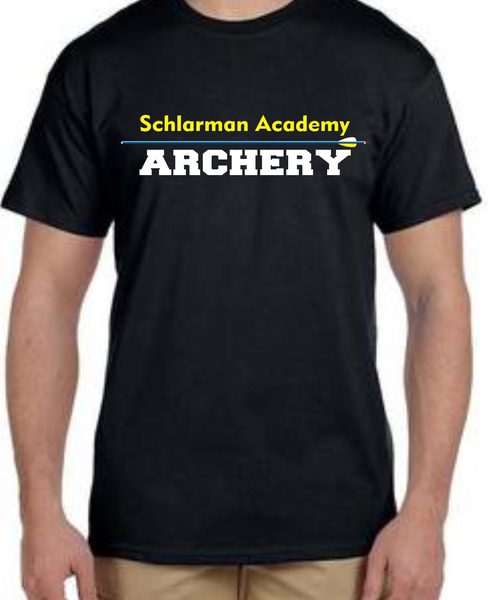 Image of Schlarman Archery Arrow Shirt Black