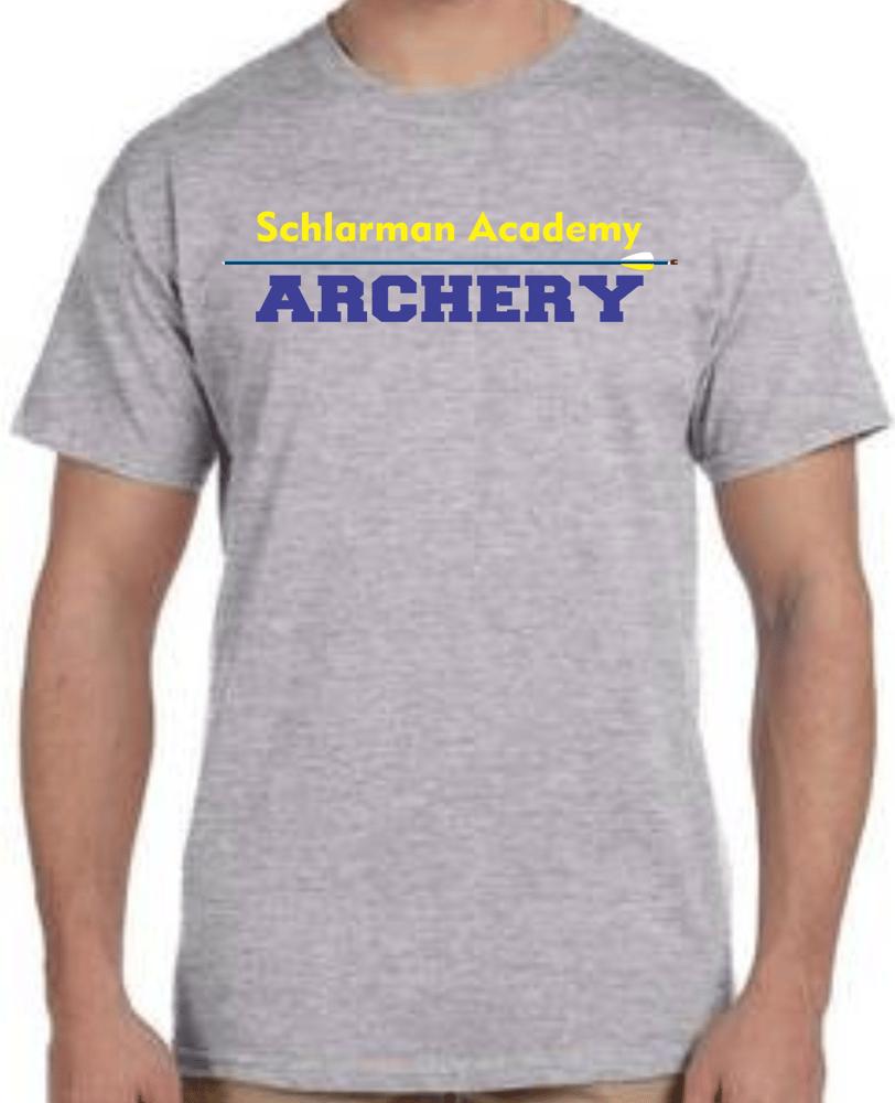 Image of Schlarman Archery Arrow Shirt Grey