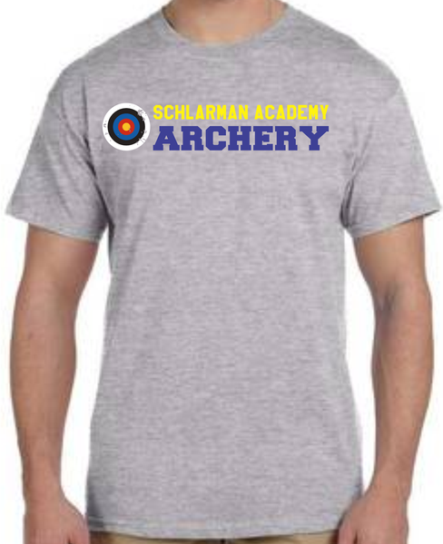 Image of Schlarman Archery Target Shirt Grey
