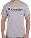 Schlarman Archery Target Shirt Grey