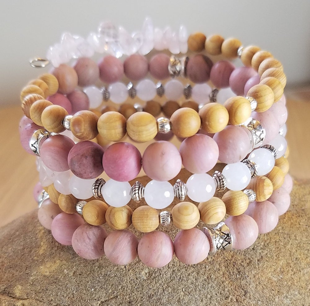 Image of Spring Statement Bracelet in Pink
