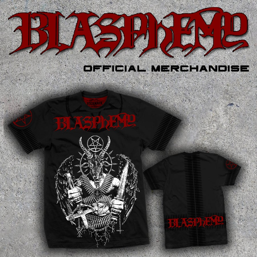 Image of Blasphemy limited to 50 numbered t-shirts
