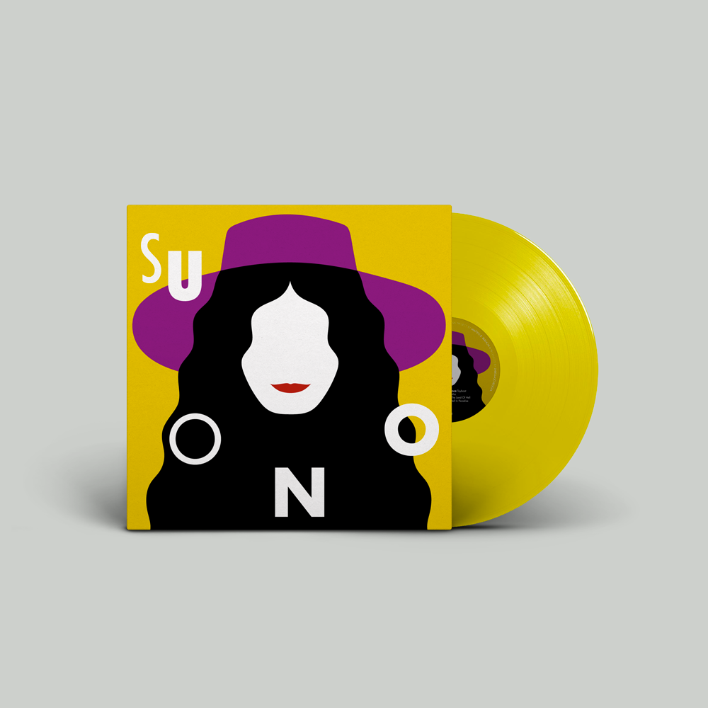 Image of suONO yellow vinyl 180 gr. (Limited edition), artwork by Olimpia Zagnoli
