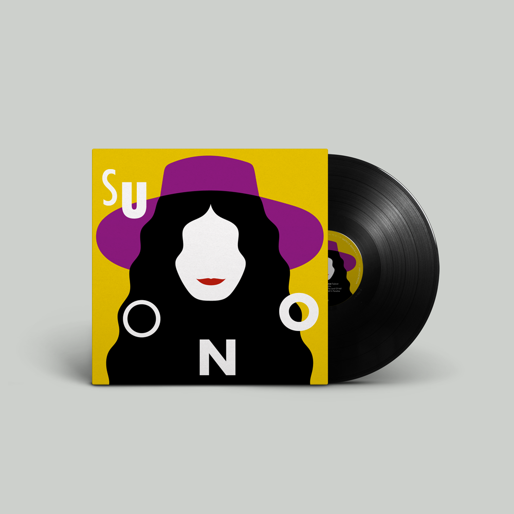 Image of suONO black vinyl 180 gr. (artwork by Olimpia Zagnoli)