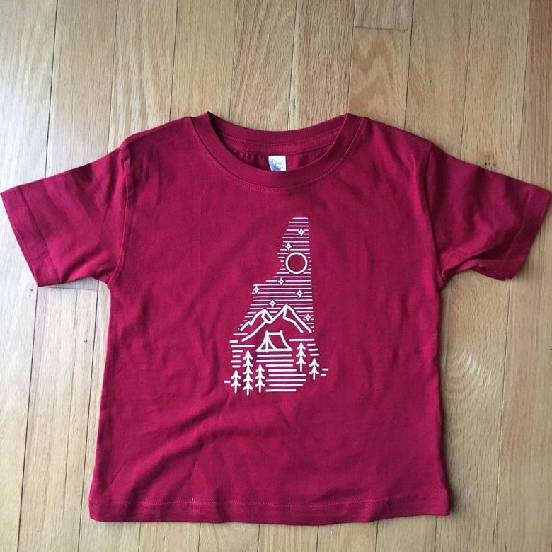 Image of Kids/Toddler Camping Logo T-shirt