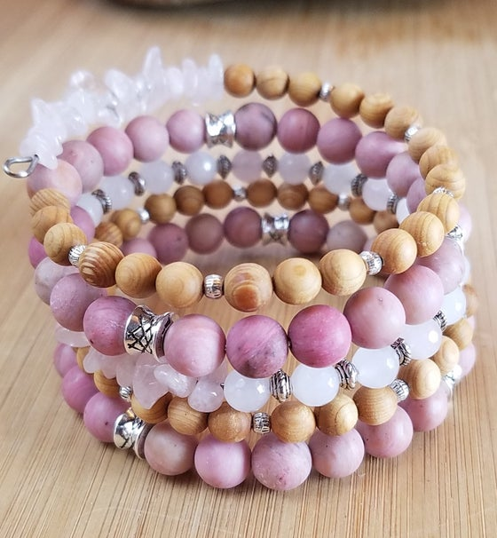 Image of Spring Statement Bracelet in Pink