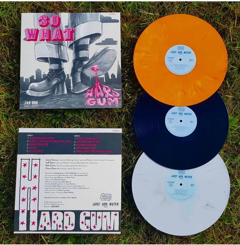"Image of SO WHAT ""Hard Gum"" LP (orange, white, or black vinyl) + download (JAW032)"
