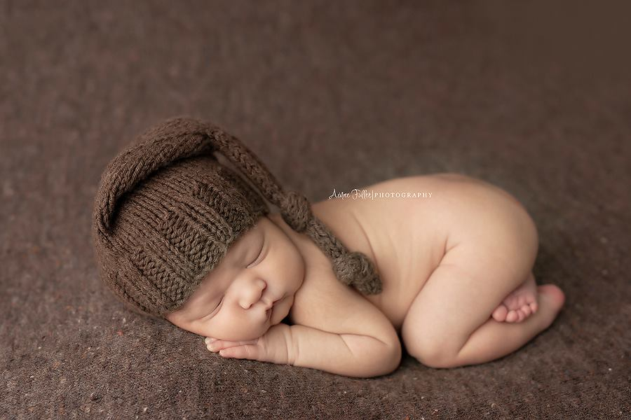 Image of Liam thick knit beanbag backdrop in Brown