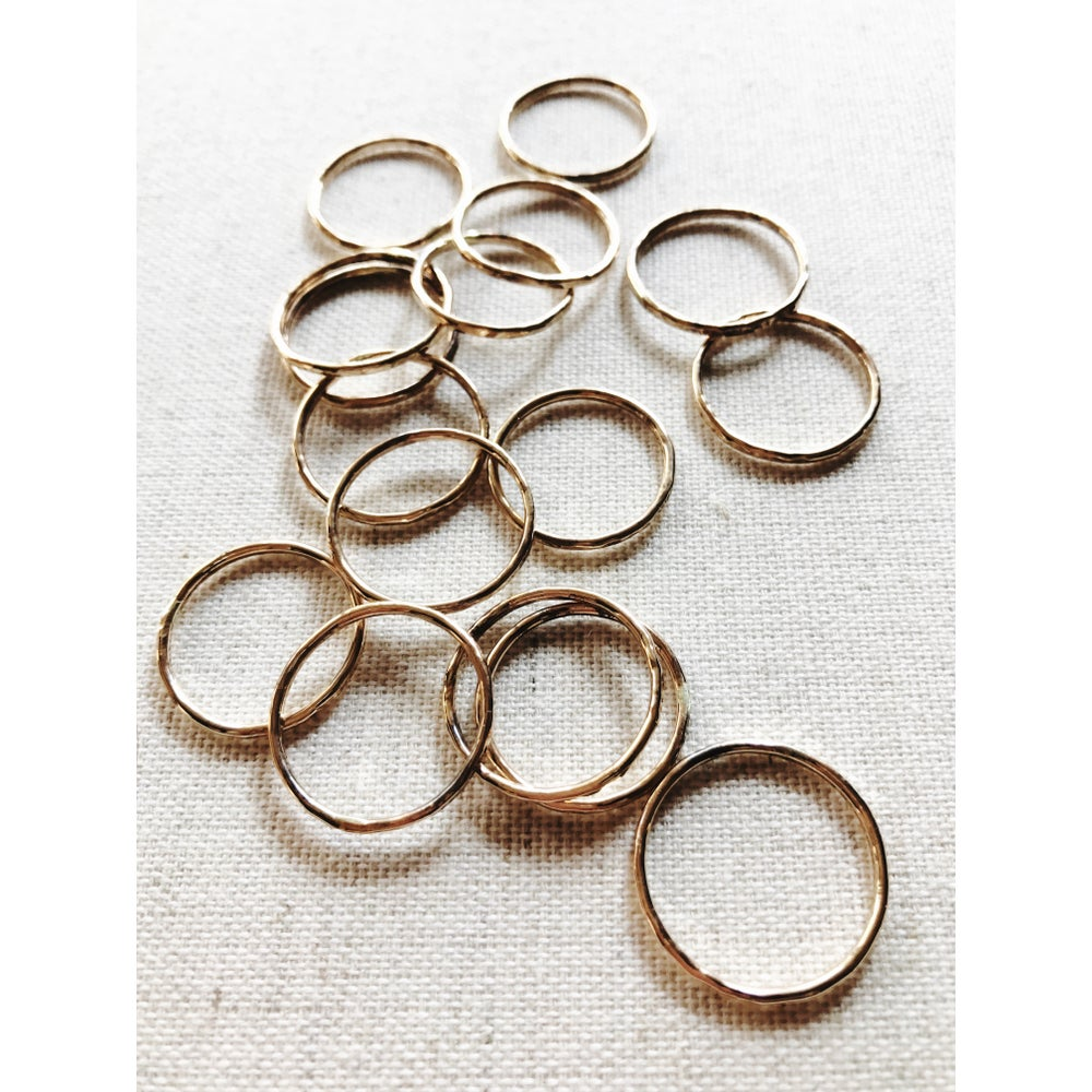 Image of GOLD stack rings