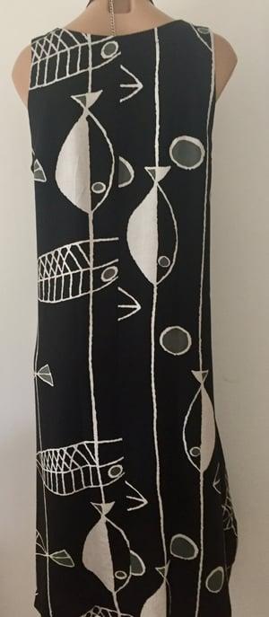 Image of Linen dress black