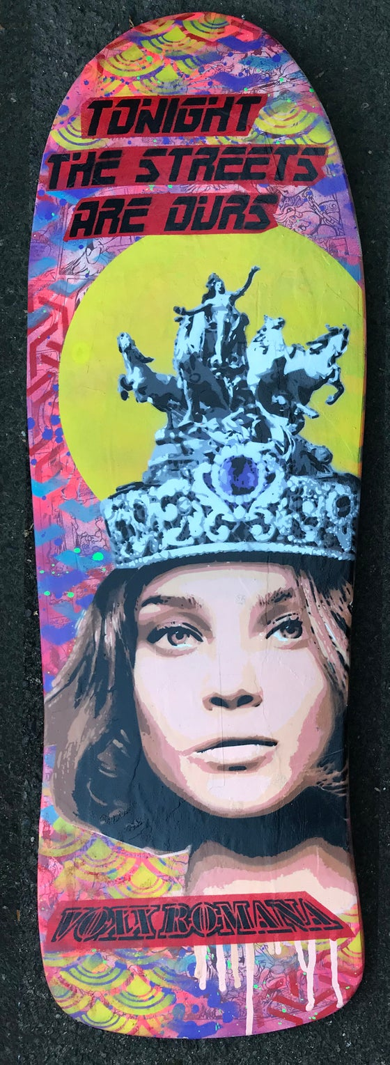 Image of Lady of Grand Palais - Original Stencil on Skateboard Deck