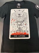 "Image of Hindley and Brady ""Lovers"" Tarot Card Shirt"