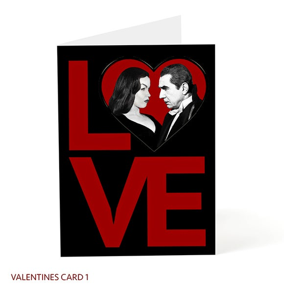 Image of Bela Lugosi / Vampira LOVE Valentine 5x7 card.