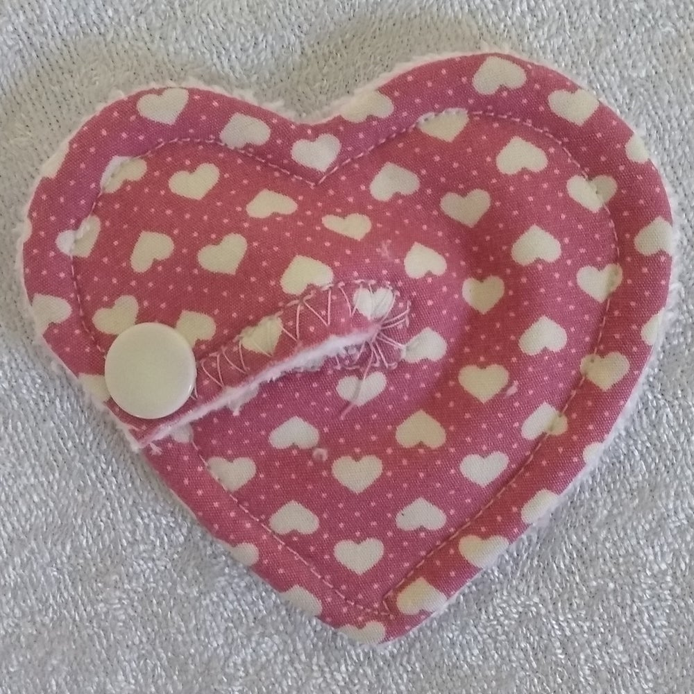 Image of Dusky Pink Heart Shaped Tubie Pad