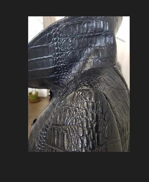Image of Embossed Croc Vinyl Trench Coat