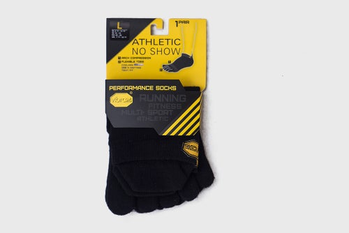 Image of Vibram Fivefingers Black No-Show Toe Socks