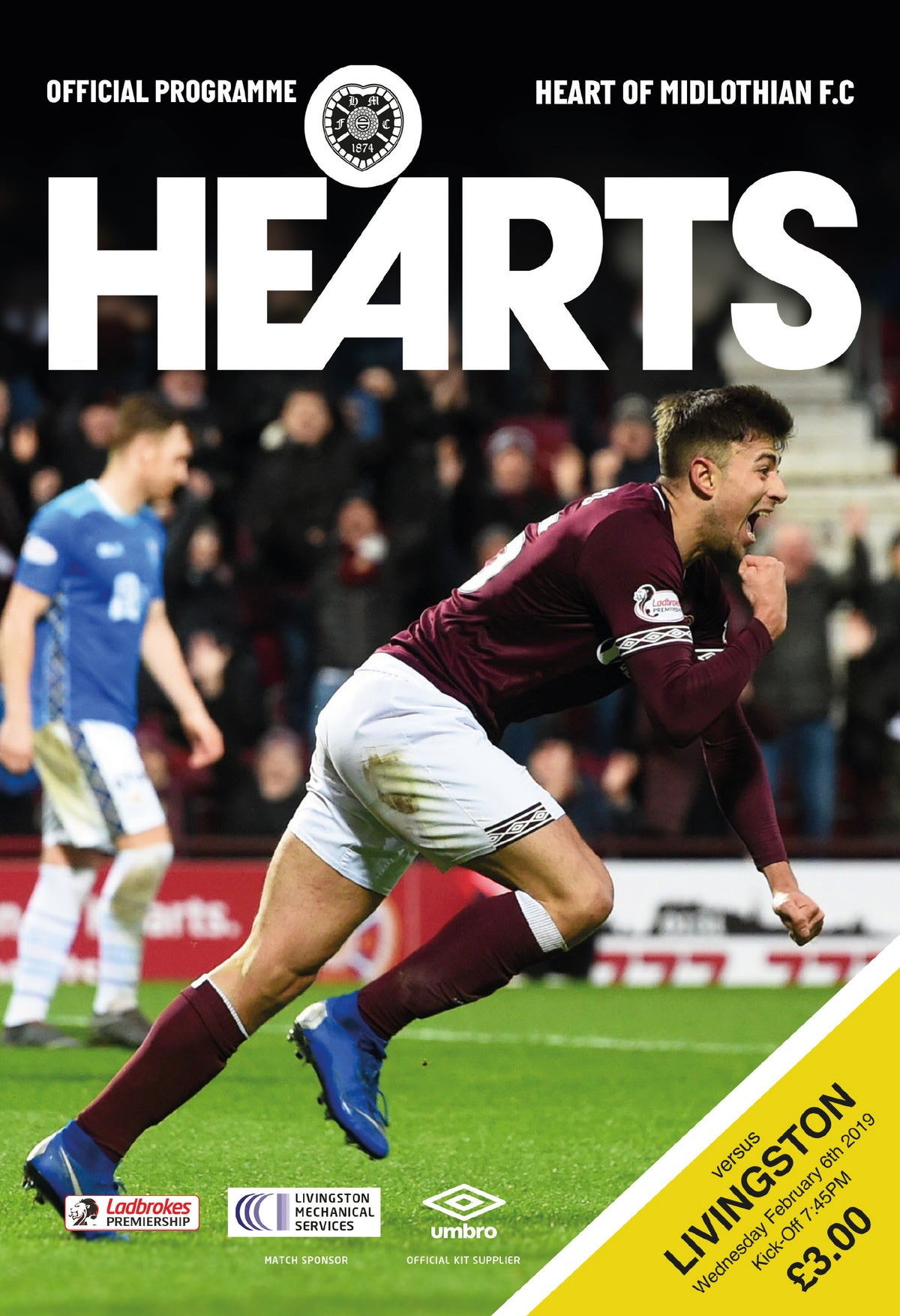 Image of Hearts v Livingstone, 6th February 2019