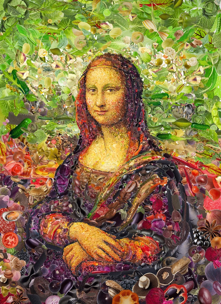 Image of Mona Lisa (Limited edition digital mosaic on paper)