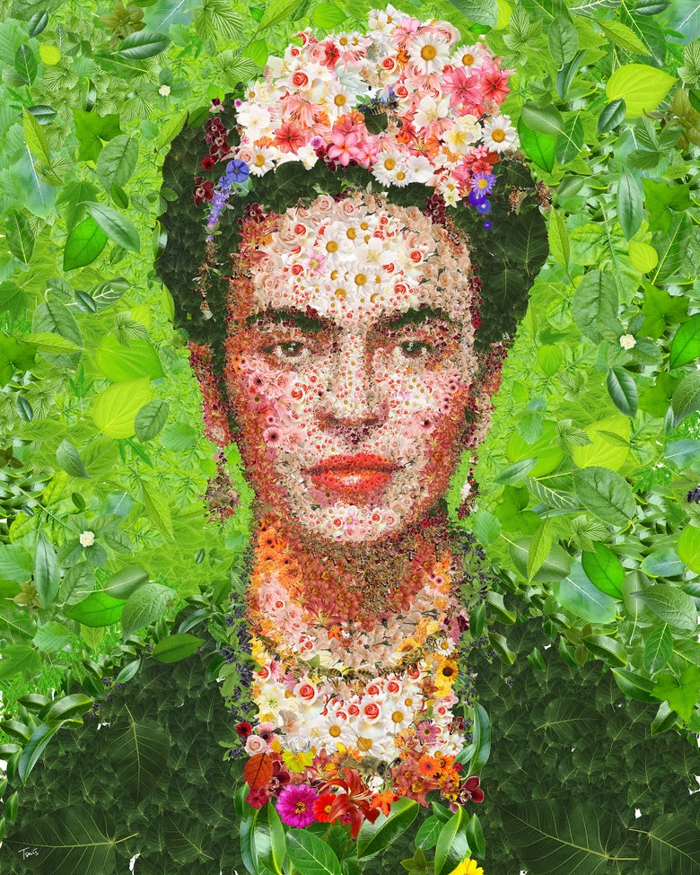 Image of Frida Kahlo (Limited edition digital mosaic on paper)