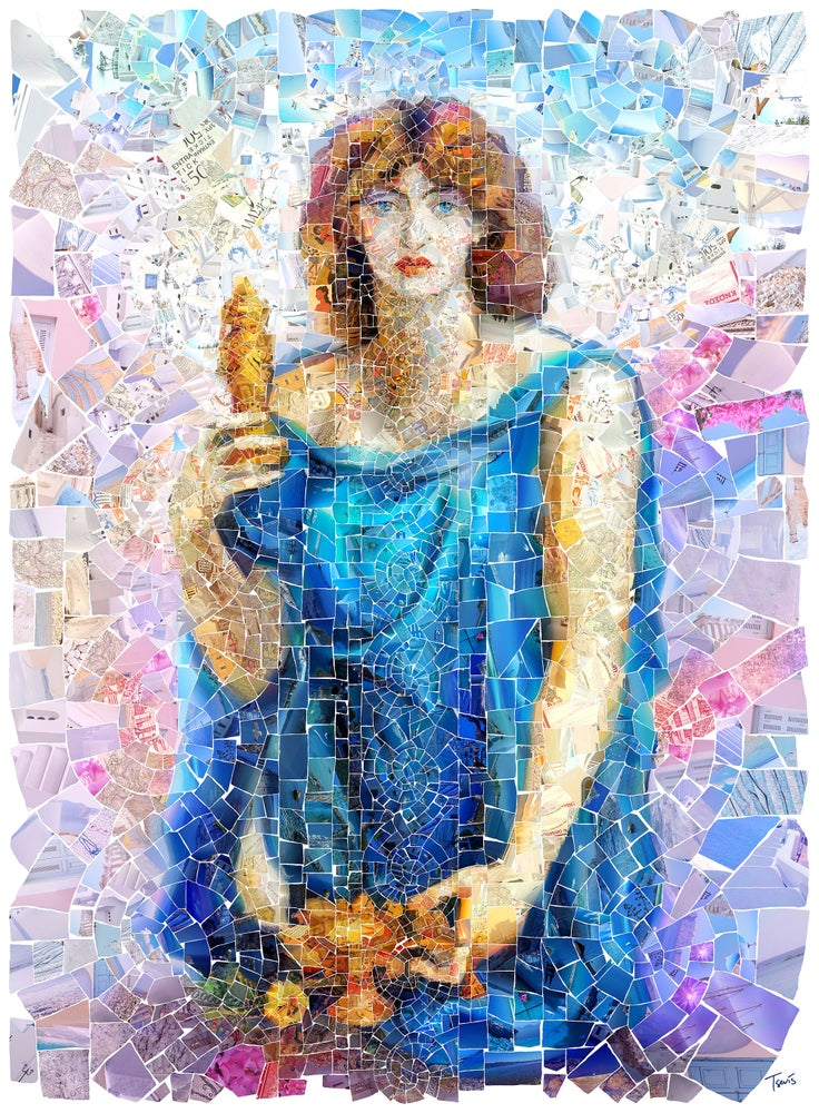 Image of Persephone (Limited edition digital mosaic on paper)