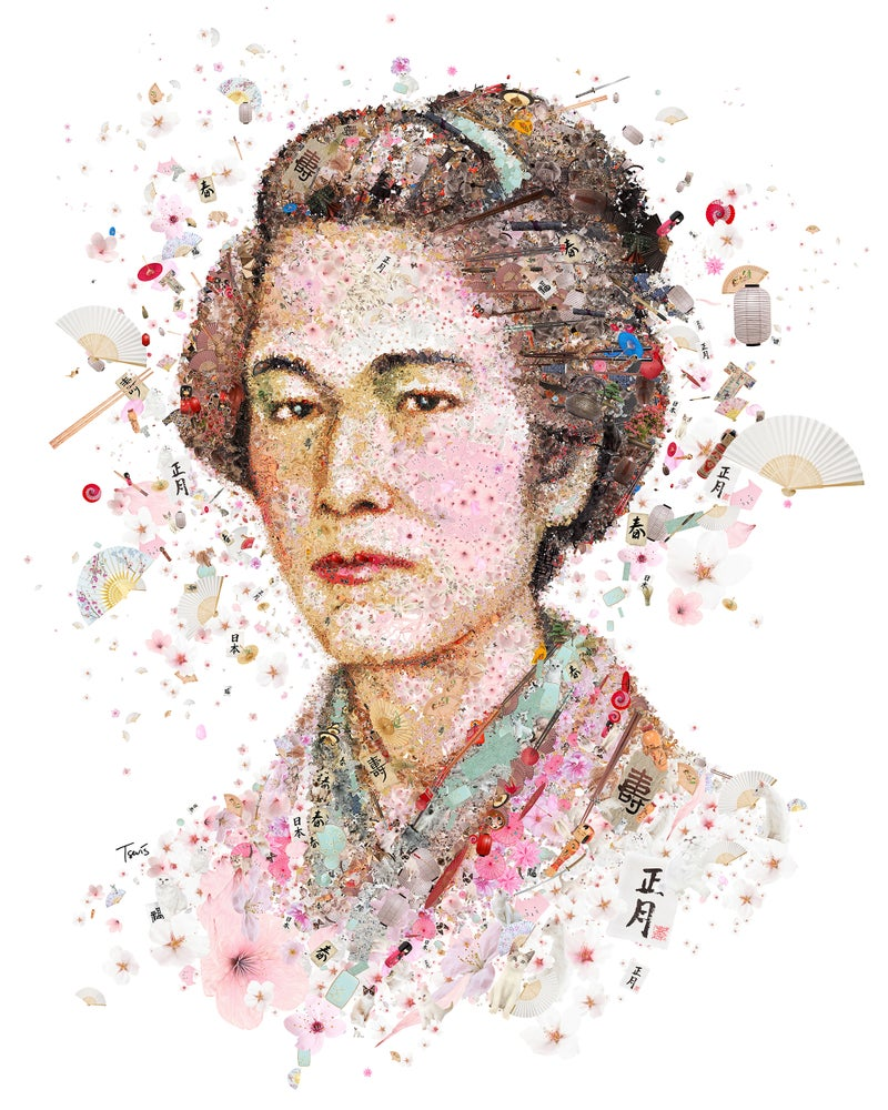 Image of Nakano Takeko (Limited edition digital mosaic on paper)