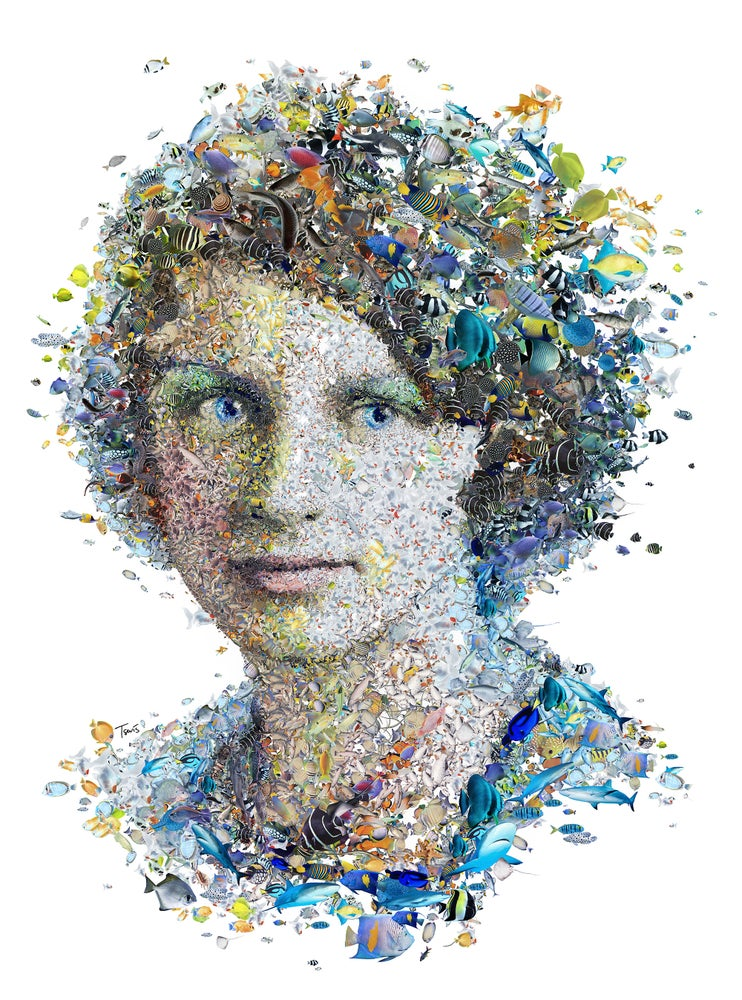 Image of Rachel Carson (Limited edition digital mosaic on paper)