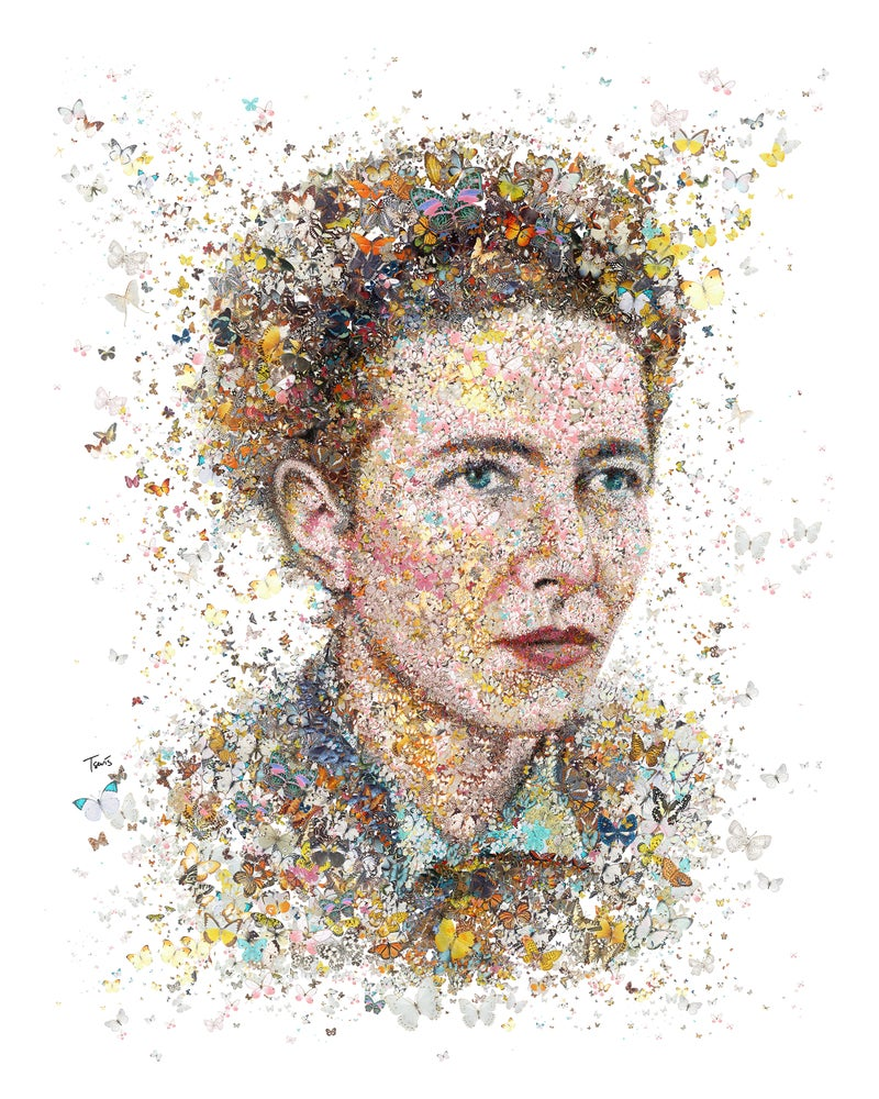 Image of Simone De Beauvoir (Limited edition digital mosaic on paper)