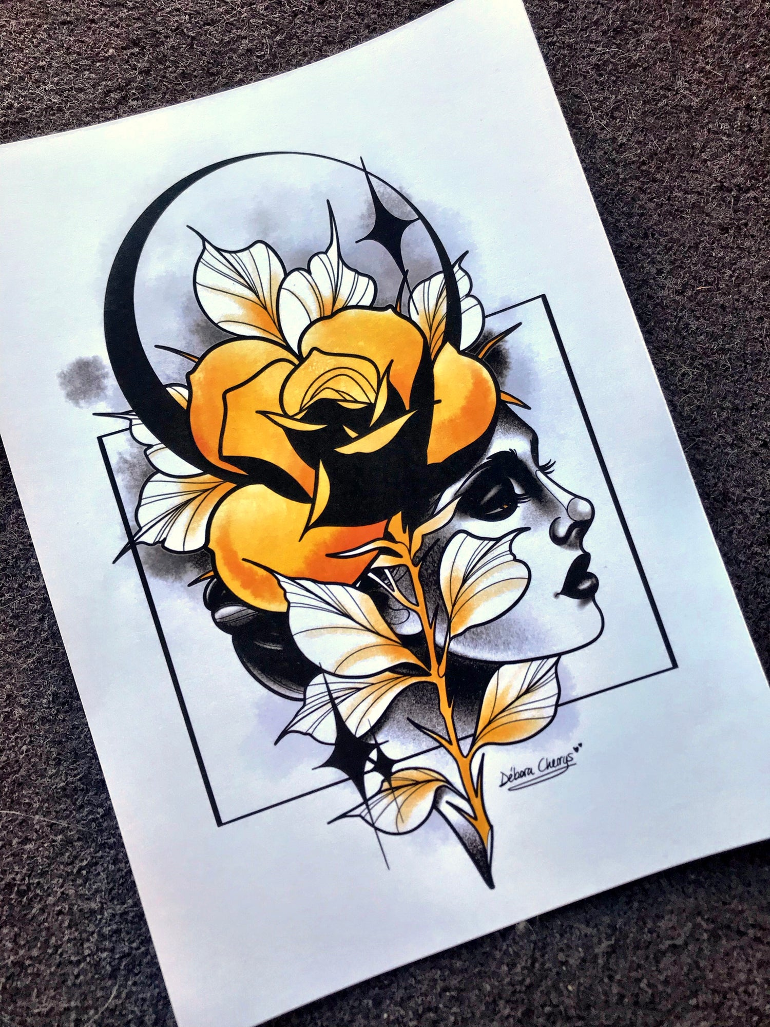 Image of PRINT ROSE & FACE 2