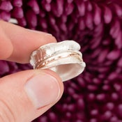 Image of Mixed Metal Spinner Ring size 3 . 30001