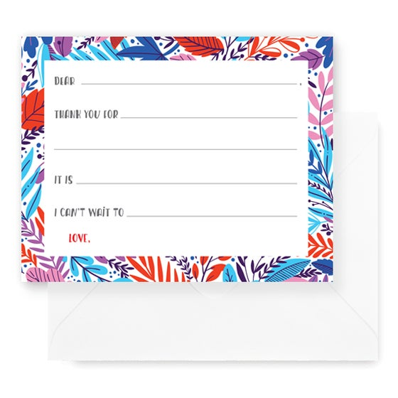Image of Blooming Fill-In Notecards