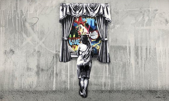 Image of MARTIN WHATSON - FIGURE AT THE WINDOW (REVERSE) - 100CM X 60CM SCREENPRINT
