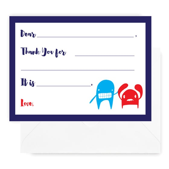 Image of Monster Fill-In Notecards