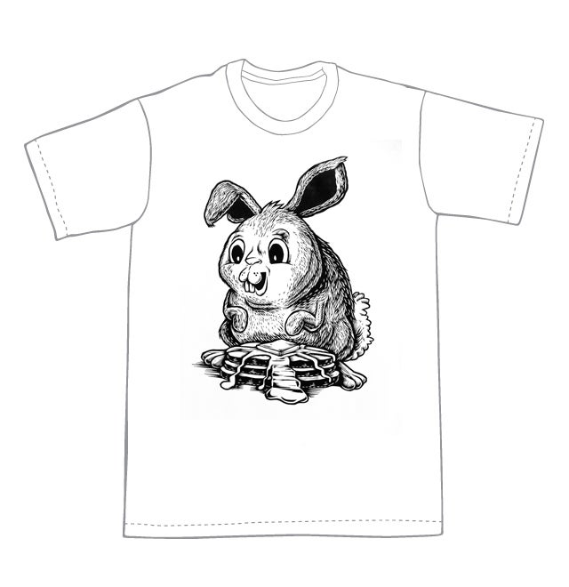 A Bunny and it's Pancakes! T-shirt (B3) **FREE SHIPPING**