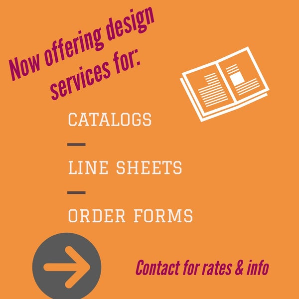 Image of Catalog, Line Sheet or Order Form Design