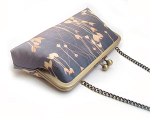 Image of Lilac leaf clutch bag