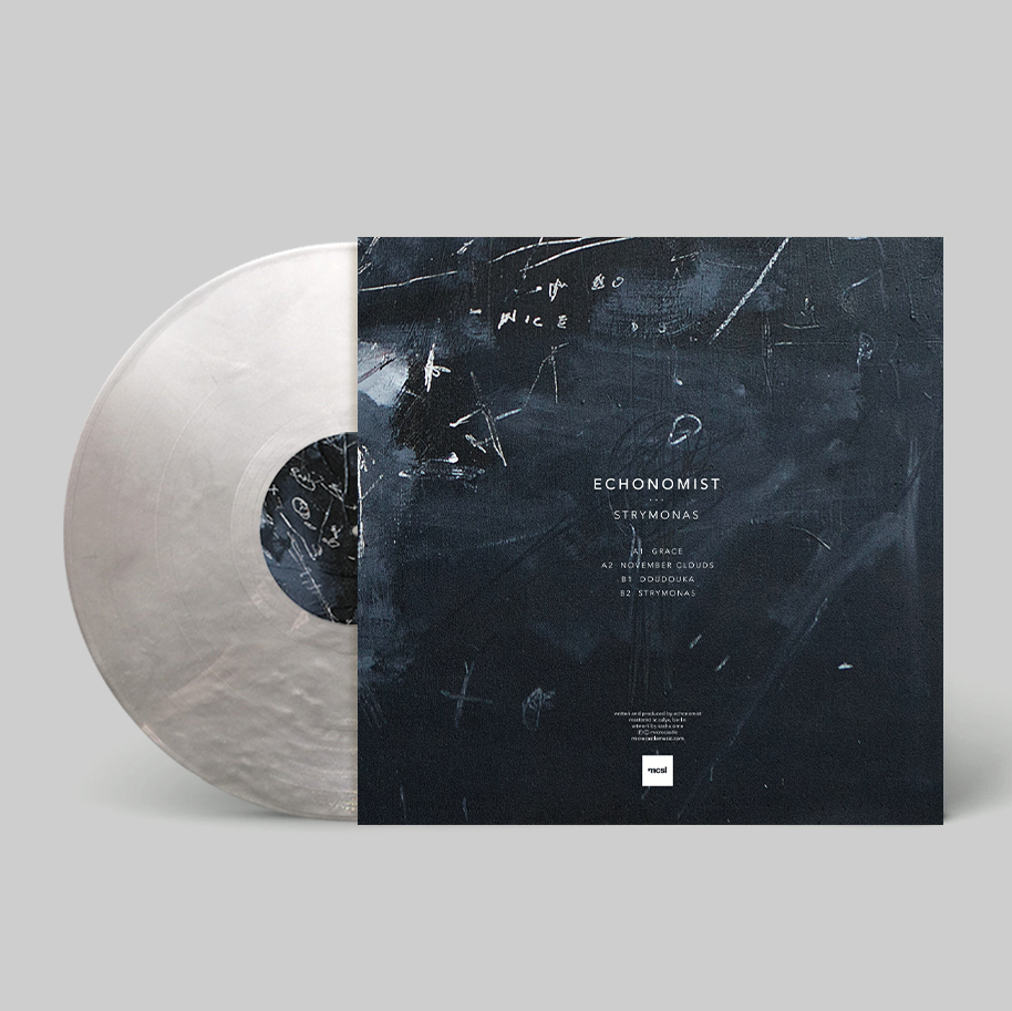 "Image of Echonomist 'Strymonas' Ltd. Edition 12"" Grey / Silver Marble Vinyl"