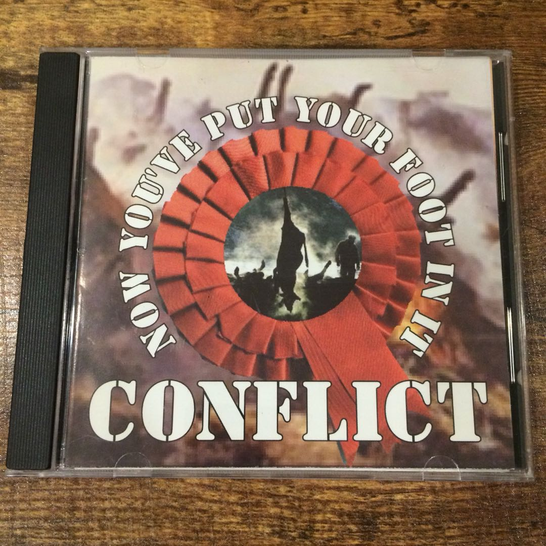 Image of CONFLICT - Now You've Put Your Foot In It CD Single
