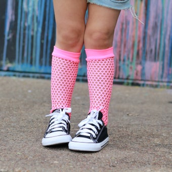 Image of Pink Fishnet Knee-Highs