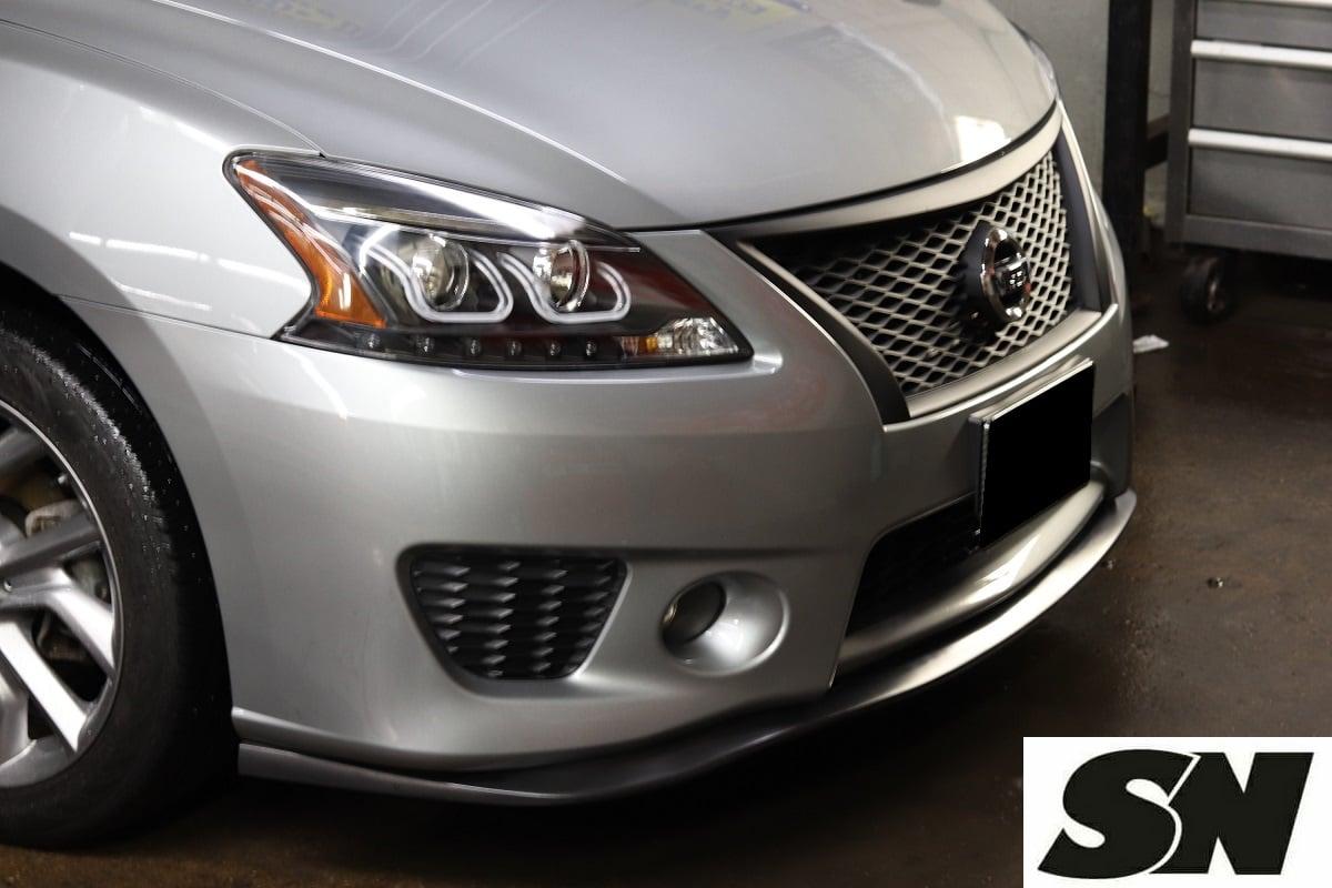 Fits 02-03 Nissan Sentra 4Dr B15 SE-R Spec V Front Bumper Lip Spoiler
