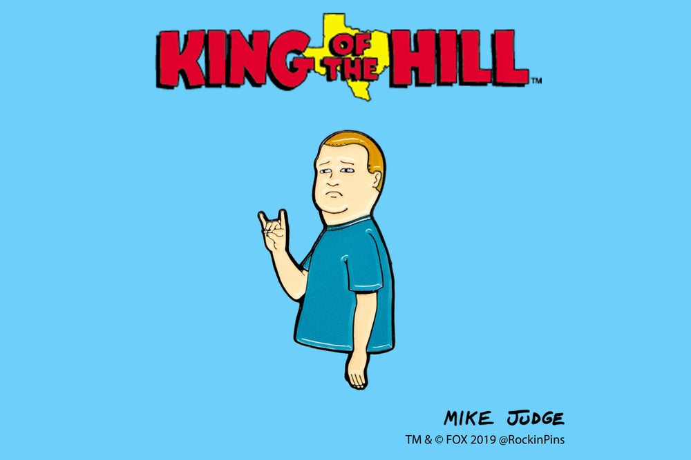 Image of King of the Hill - Bobby Hill Horns Enamel Pin