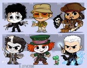 Image of Evolution of Johnny Depp Print