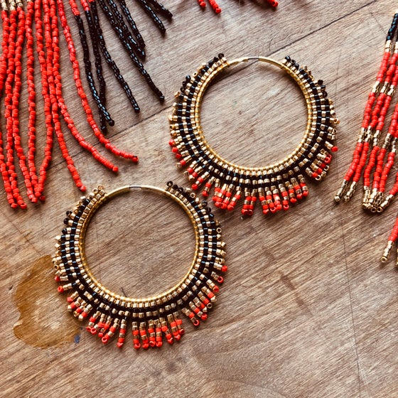 Image of Studio 54 sunburst earrings