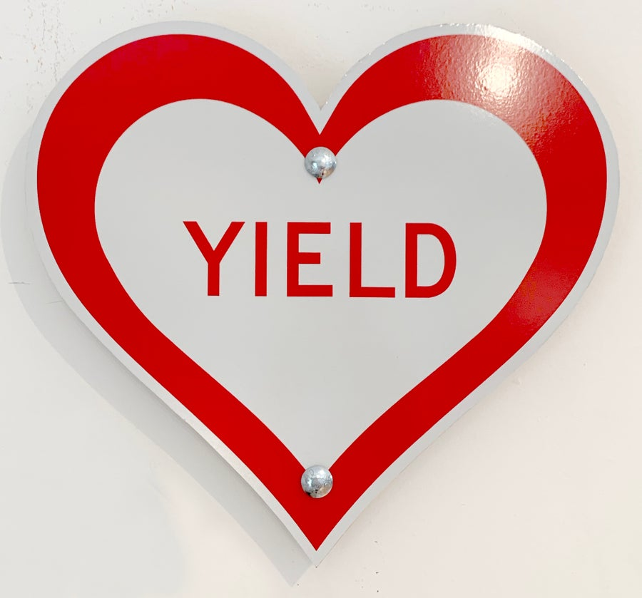 "Image of 12"" YIELD Heart (Signed)"