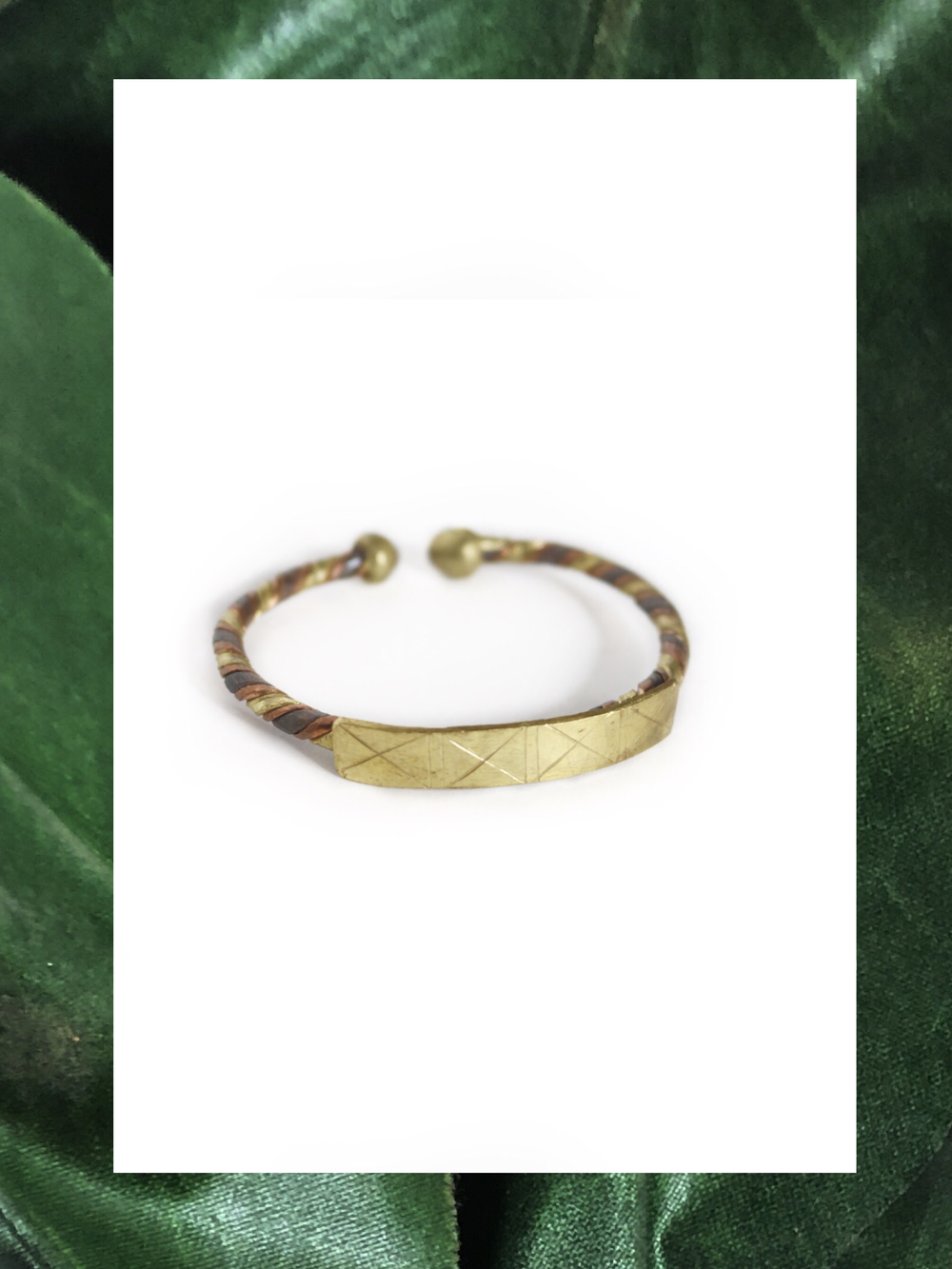 Image of Rooted in Gold Brass Bracelet