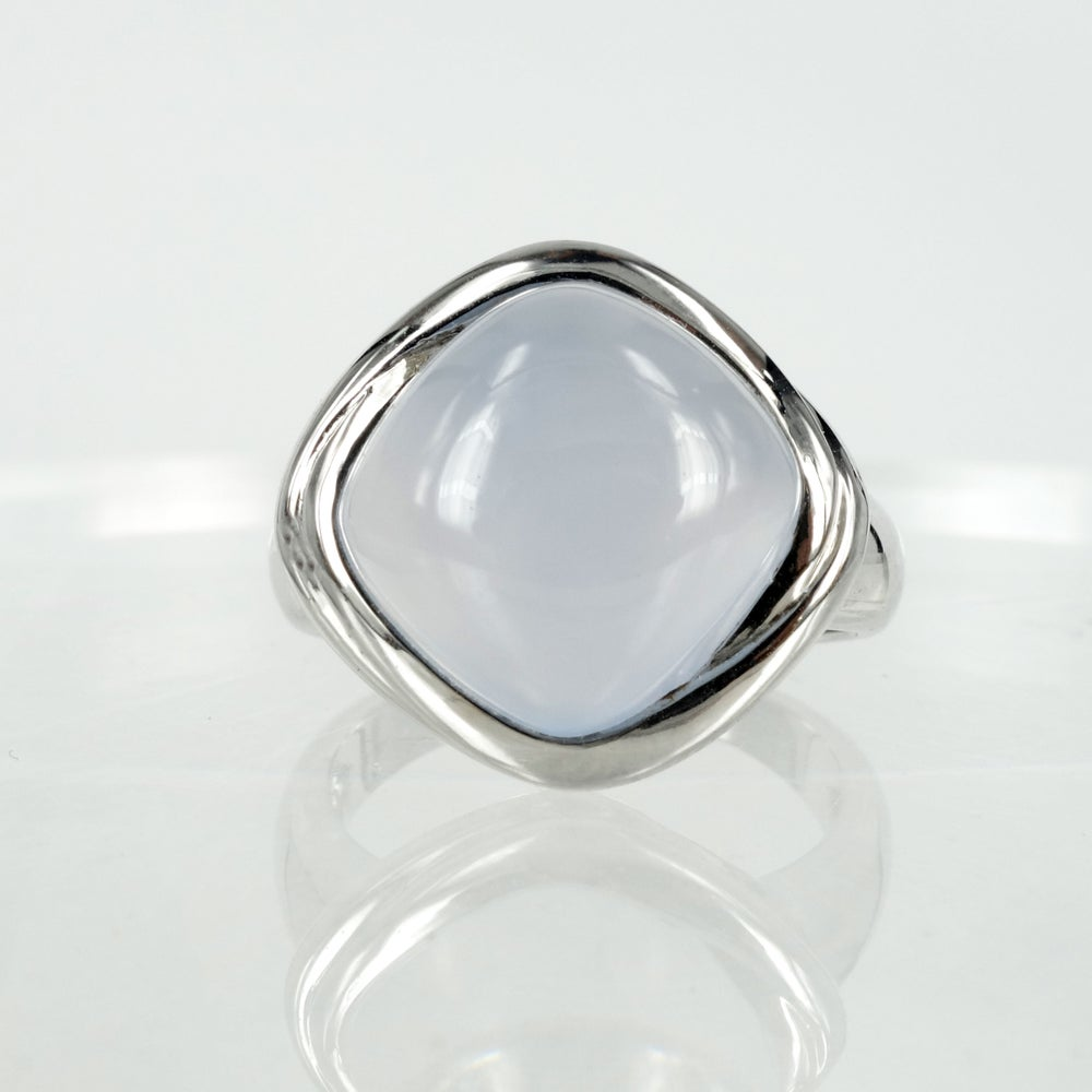 Image of Sterling silver cocktail ring set with a lilac quartz stone
