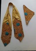 Golden Satin Cravat & Pocket Square Sets (1)