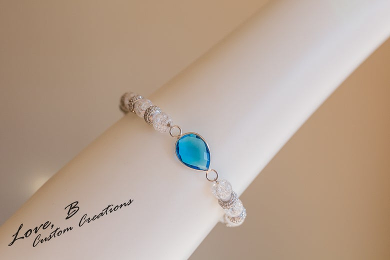 Image of Ice Ice Baby: Swiss Blue Topaz Bracelet