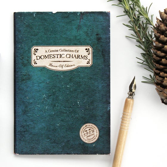 Image of 'Domestic Charms' A6 Spell Book Style Notebook